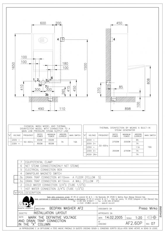 Installasjonstegning AF2-60